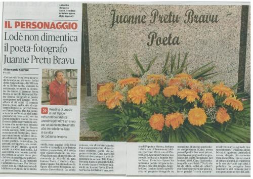 Juanne Pretu Bravu, poesia, ufìtziu limba sarda, lodè, angelo canu