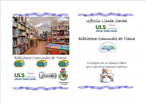 tiana,biblioteca comunale,comune tiana,assessorato cultura,ufìtziu lim