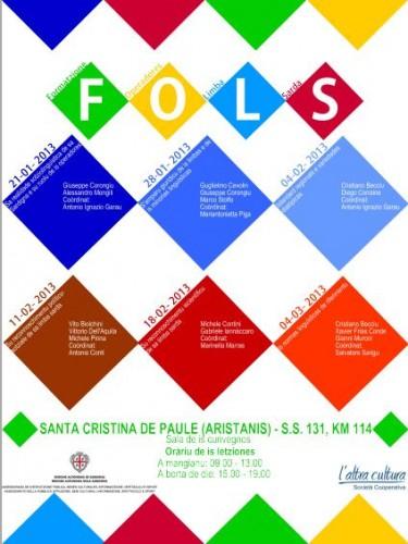 F.O.L.S. (Formatzione de is Operadores de sa Limba Sarda), cursu limba sarda, corso lingua sarda, regione sardegna, altra cultura, paulilatino, santa cristina, locandina