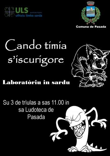 laboratori didattici, lingua sarda, cando timia s'iscurigore, ufìtziu de sa limba sarda, angelo canu, comune posada, ludoteca